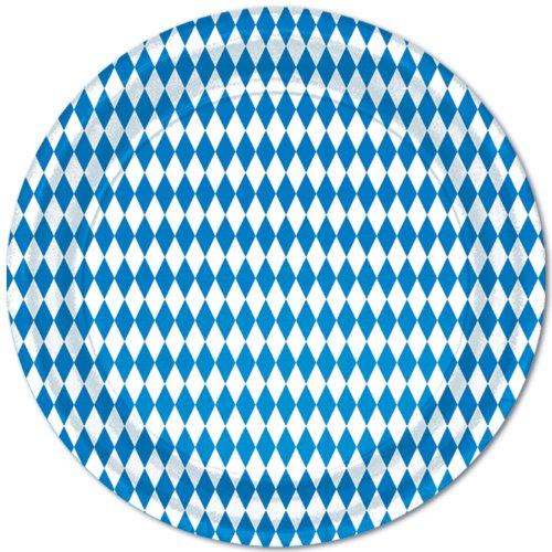 : Blue & White Plates   (8/Pkg)