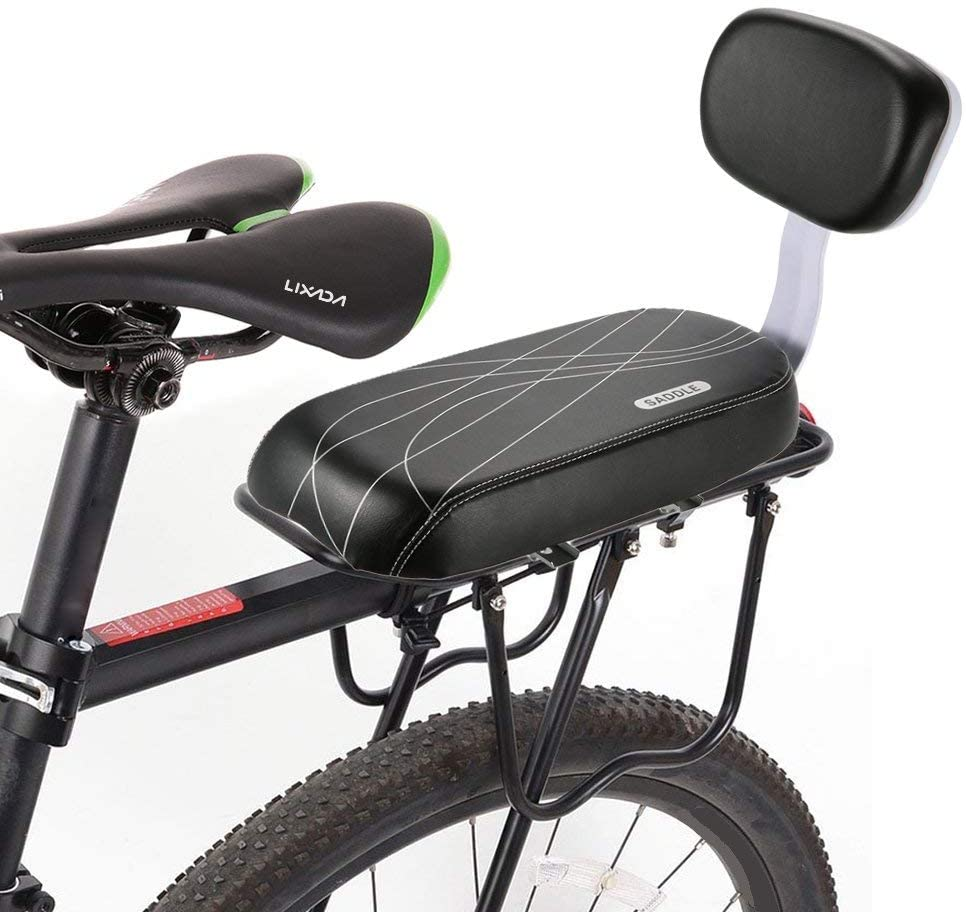 Bicycle Back Seat Handle Snug Carrier Fitting Child seat,Bike Back Seat Cushion Kid Child Safety Carrier Bicycle Baby Seat and Handle Set