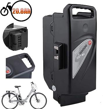 Sinbide Li-Ion Batería Negra 20.8Ah / 23.2Ah para e-Bike Bicicleta Eléctrica, Flyer, Helkama, Kalkhoff, Kettler, Moover, Raleigh & Victoria X-Serie, Dover, Tasman City: Amazon.es: Deportes y aire libre