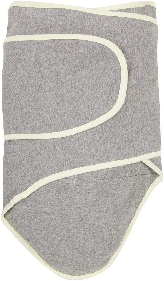 Miracle Blanket 46724 Swaddle, Grey with Yellow Trim