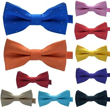 RIsxffp Linda corbata multicolor para niños pajarita del color del ...