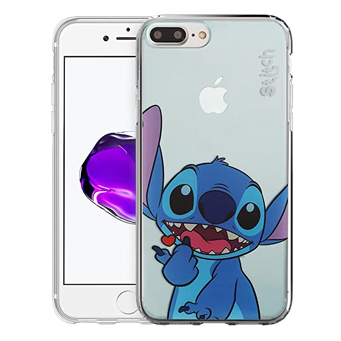 iPhone 8 Plus/iPhone 7 Plus Case Disney Cute Soft Jelly Cover for [ iPhone 7 Plus/iPhone 8 Plus ] Case - Color Stitch