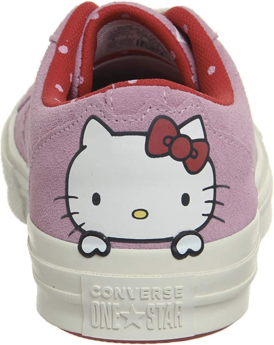 Girls Official Hello Kitty Black /& Multi Colour Trainer Infant Size 12