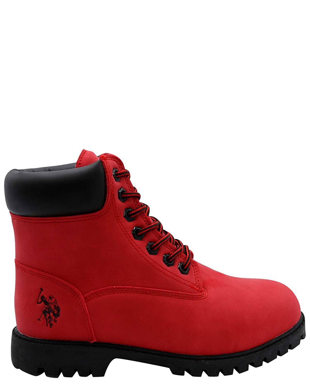eb10d356b1f US Polo Assn. Men's Owen Hi Boot,Red,10