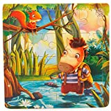 YChoice Educational Puzzle Kids Wooden Story Peg Puzzle Education Learning Toy Fantastic Gifts Kids(Horse)