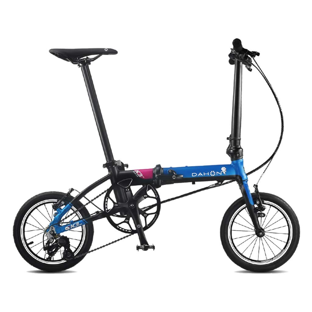 B 1203491cm Folding Bikes Bicycle Folding Bicycle Unisex 14 Inch Small Wheel Bicycle Portable 3 Speed Bicycle (color   G, Size   120  34  91cm)