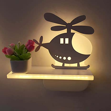 Guyue 3d helicopter lamp sign night wall light childrens bedroom guyue 3d helicopter lamp sign night wall lightchildrens bedroom home led wall lamp aloadofball Gallery