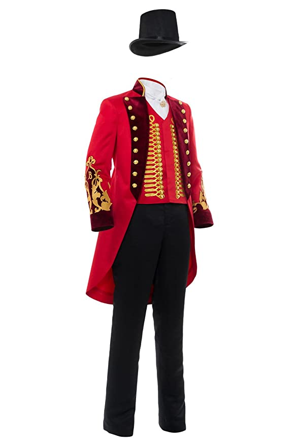 Adult Performance Uniform Showman Party Suit Circus Red Outfit Cosplay Costume