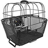 "Sunlite RackTop/Handlebar pet Friendly QR Basket, 15.7 x 16.9 x 12"", Black"