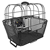 Sunlite RackTop/Handlebar pet Friendly QR Basket, 15.7 x 16.9 x 12'', Black