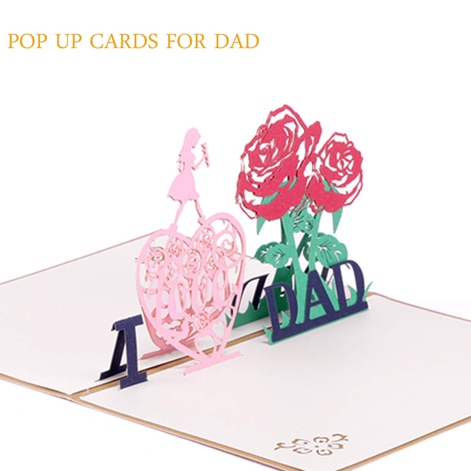 Amazon Paper Spiritz Pop Up Card 3D Birthday For Dad Thank You From Kids Children Fathers Day Greeting