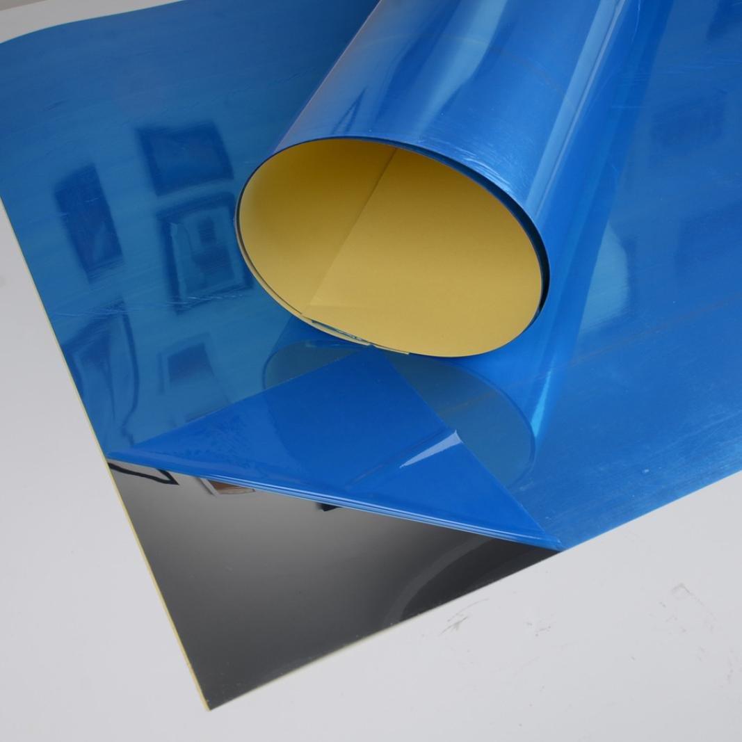 Familizo Autocollant Mural Miroir D/écoration de la Chambre Autocollants Muraux de Miroir Taille: S: 50 * 100cm;, ❤️Argent