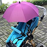 Kangkang@ Baby Pram Pushchair Buggy Stroller Umbrella Anti UV Rays Sunshade Parasol Sun Shade Canopy Umbrella Accessories (Rosy)