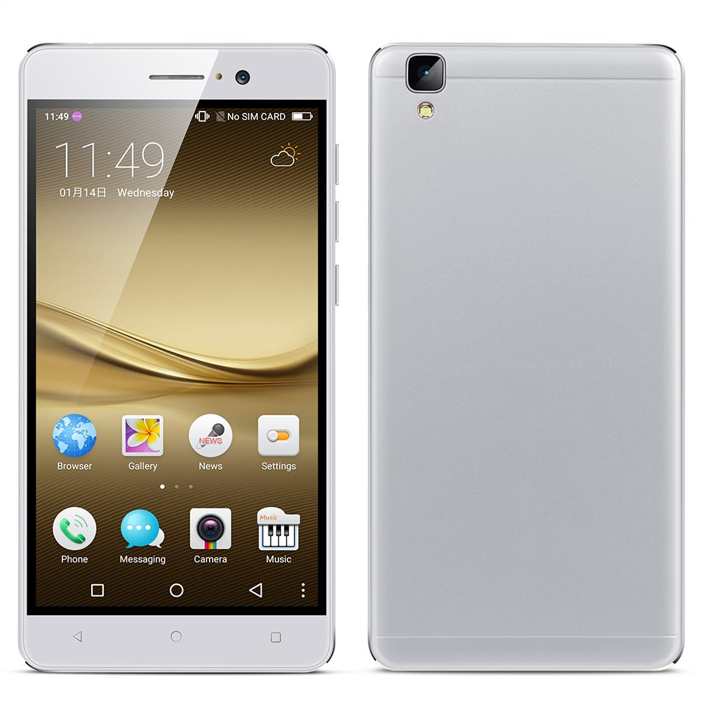 "Padcod New R7 Android Unlocked Smartphone,5.5"" Screen,MTK6580M Quad-Core 1.2GHz Processor,8GB ROM,Dual SIM,2g/3g Network,Wi-Fi/Bluetooth Cellphone (White)"