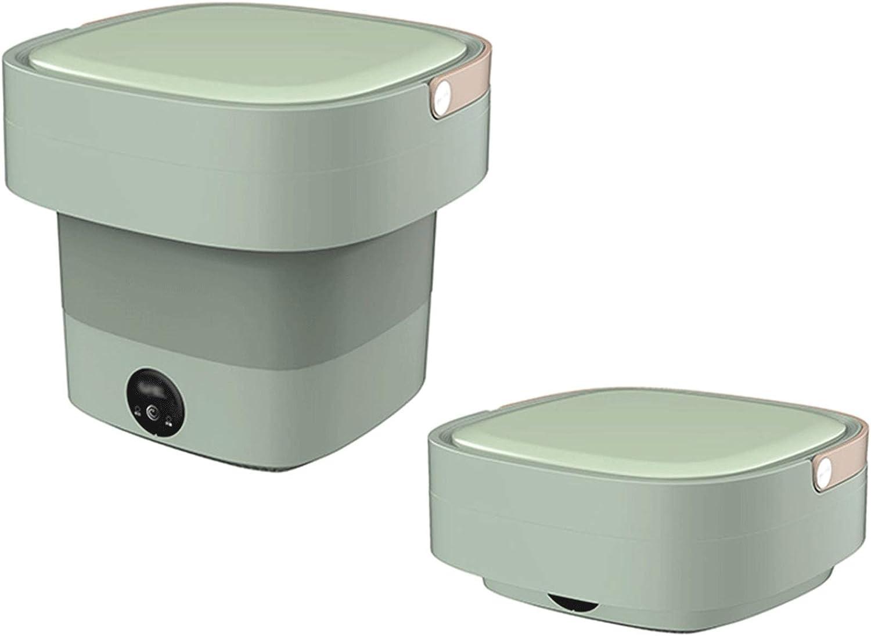 Mini Lavadora Lavadora portátil, esterilización de rayos azules, mini lavadora, lavadora plegable para lavar ropa de bebé, dormitorio de apartamento, viajes, regalo para un amigo o familia (verde) Lav