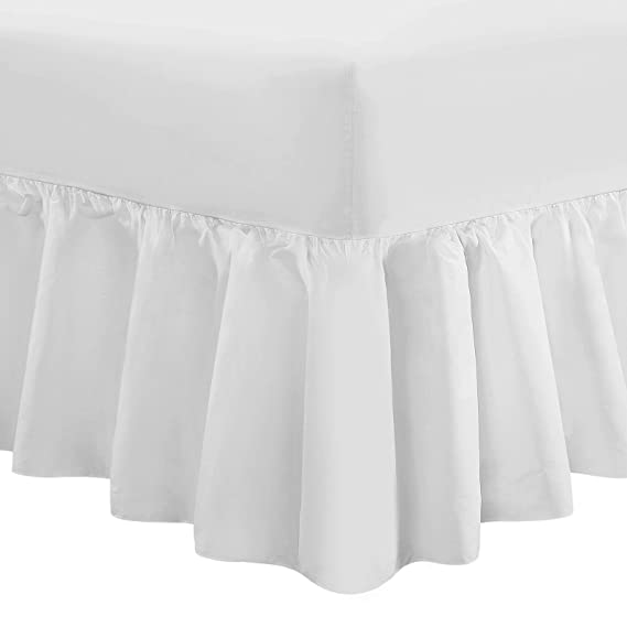 100/% Egyptian Cotton Luxury Fitted Percale Warm T200 Bed Sheet Valance Duck Egg