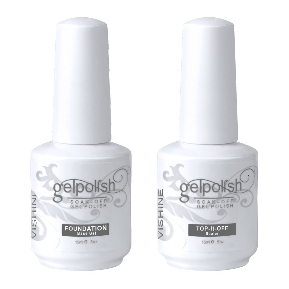 Amazon.com : Vishine Long Lasting Soak Off Nail Polish Base + Top ...