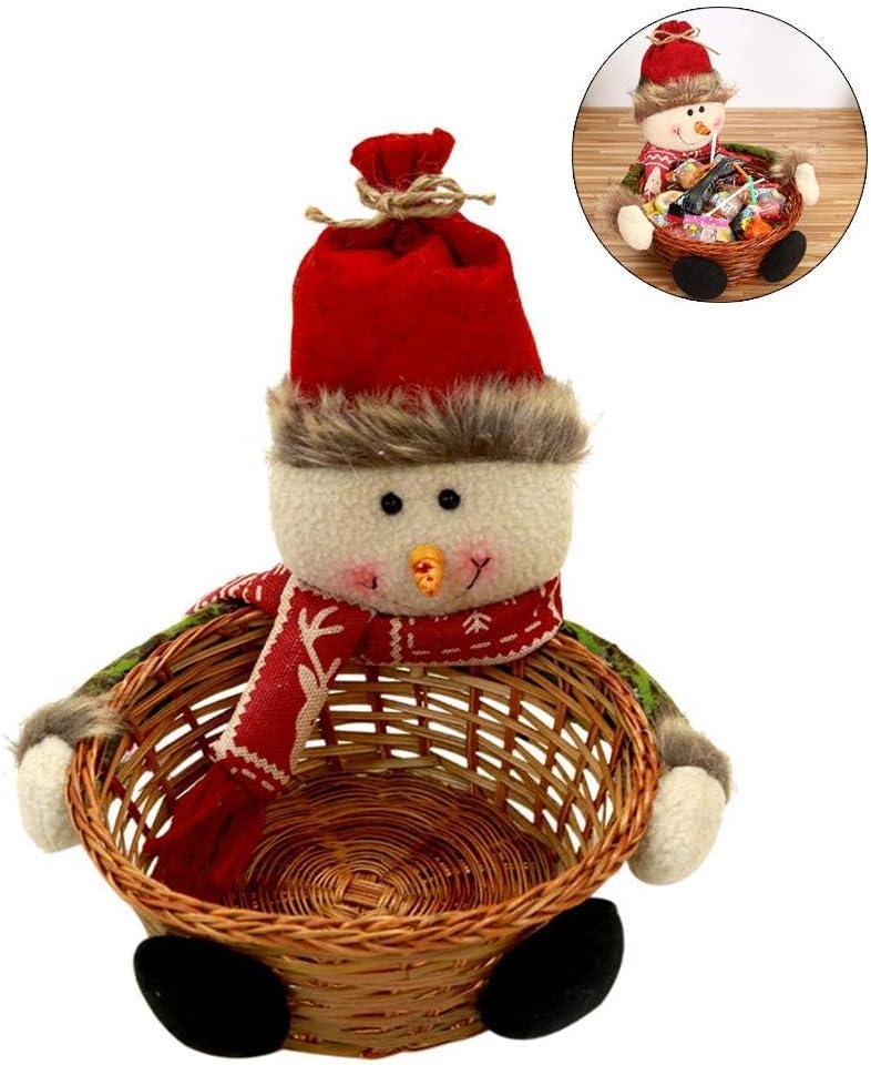 2019 D/écorations De F/ête De No/ël Cadeau Vide Bonbons Tiss/és Panier Snack Panier Bonhomme De Neige Elk Santa Vintage Paniers De Noix De No/ël