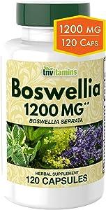 Boswellia Serrata Herbal Extract Capsules | 1200 MG/Capsule (120 Capsules) | Immune & Joint Support | Anti-Inflammatory Supplement | Frankincense Capsules | Ayurvedic Herb | Indian Olibanum
