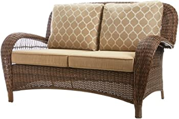 Hampton Bay Beacon Park Wicker Outdoor Loveseat
