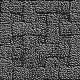 "Set of 4 Basketweave Cotton Stair Treads 9""x29"" Washable Staircase Non Slip (Dark Gray)"