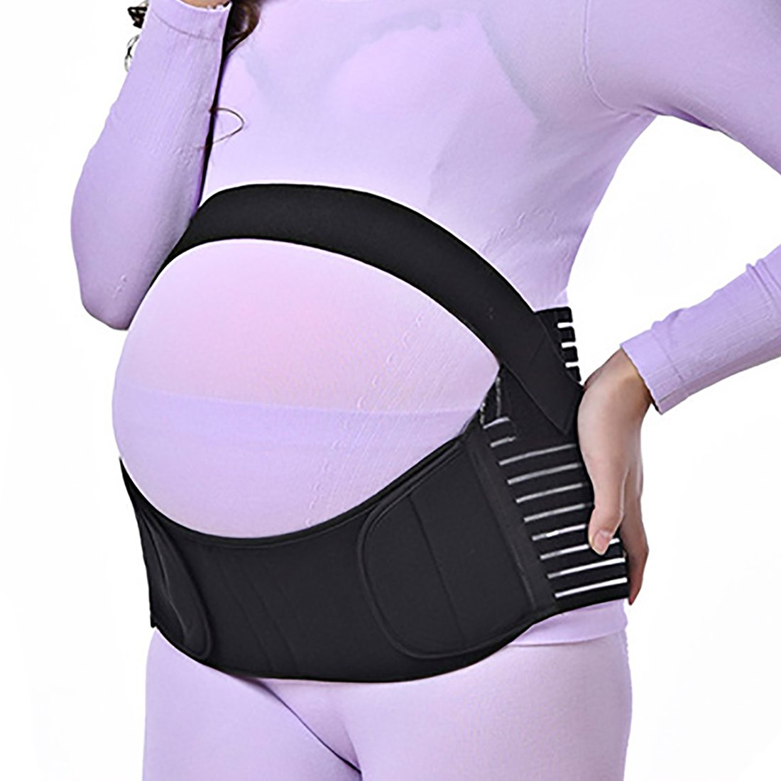 Pregnancy Belly Support Band Breathable Hip Pelvic Lumbar and Lower Back Pain Relief Belt Brace Size Medium