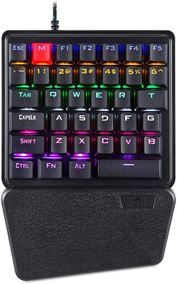 Yeefant K106 Wired 36 Keys Mechanical USB Ergonomic Single Hand Keypad Gaming Keyboard