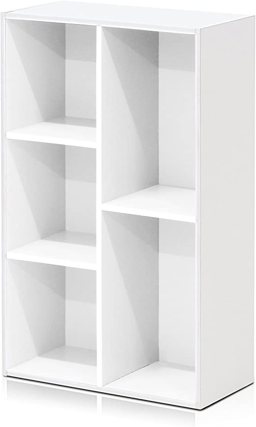 Furinno 5-Cube Open Shelf White 11069WH 2 Pack