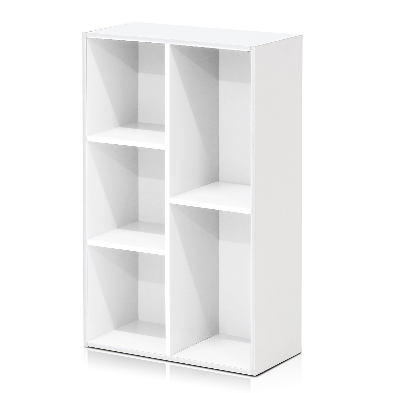 Furinno 5-Cube Open Shelf, White 11069WH