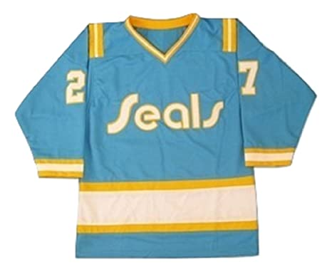 borizcustoms Gilles Meloche California Golden Seals Hockey Jersey Stitch  Sewn (30) e4e662e1dd2