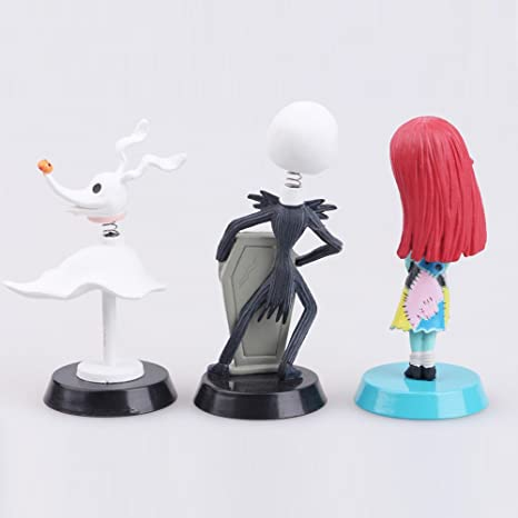 Amazon.com: The Nightmare Before Christmas Jack Zero Sally 6 PCS PVC Action Figure Gift Toys: Toys & Games