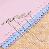 Blulu Steel T-pins for Blocking Knitting, Modelling and Crafts 150 Pieces