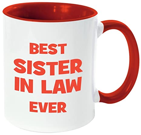 Amazoncom Rikki Knight Best Sister In Law Ever Funny Quotes Red