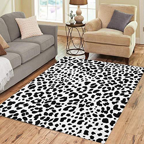 Semtomn Area Rug 3' X 5' Leopard Jaguar Skin Animal Cheetah Pattern Snow Natural Cat Home Decor Collection Floor Rugs Carpet for Living Room Bedroom Dining Room