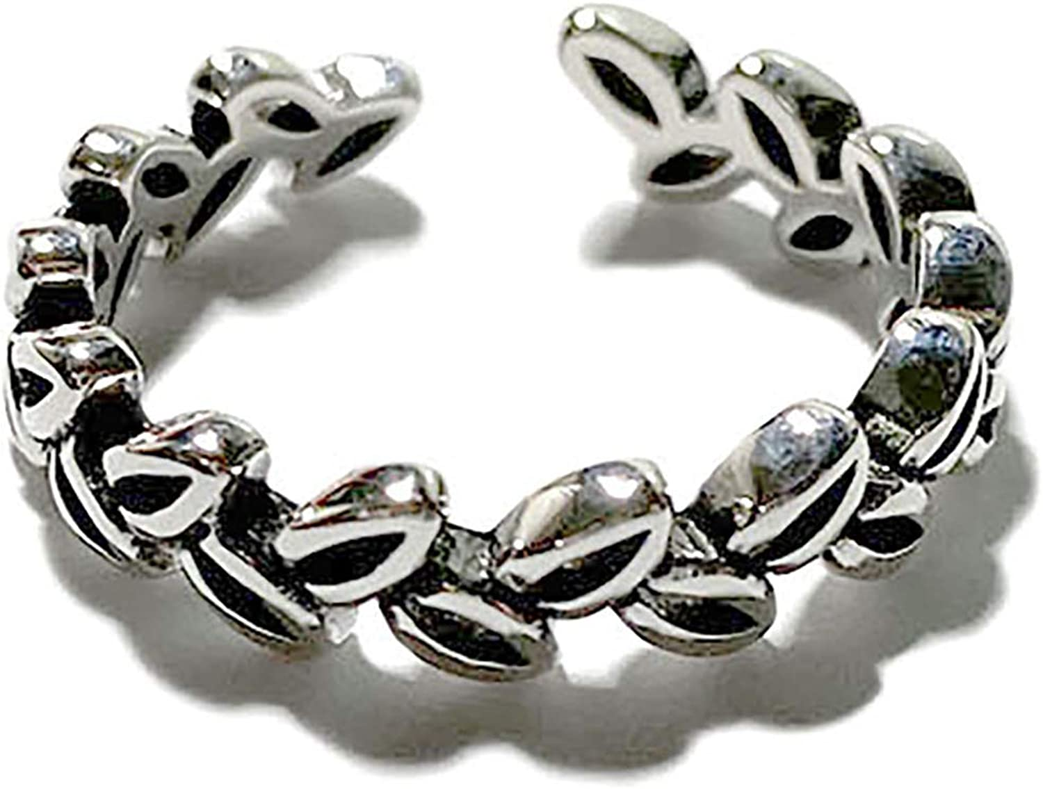 AYALULU 925 Silver Vintage Color Can be Adjusted for Ring Jewelry