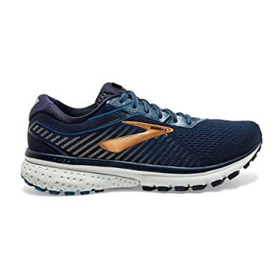 Brooks Men's, Ghost 12 Running Sneaker - Extra Wide Navy Gold 10.5 4E | Road Running