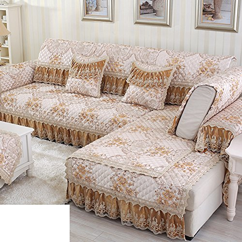 Sofa cushions,summer fabric combination full package sofa cover-A 60x120cm(24x47inch) by JIN Sofa mats