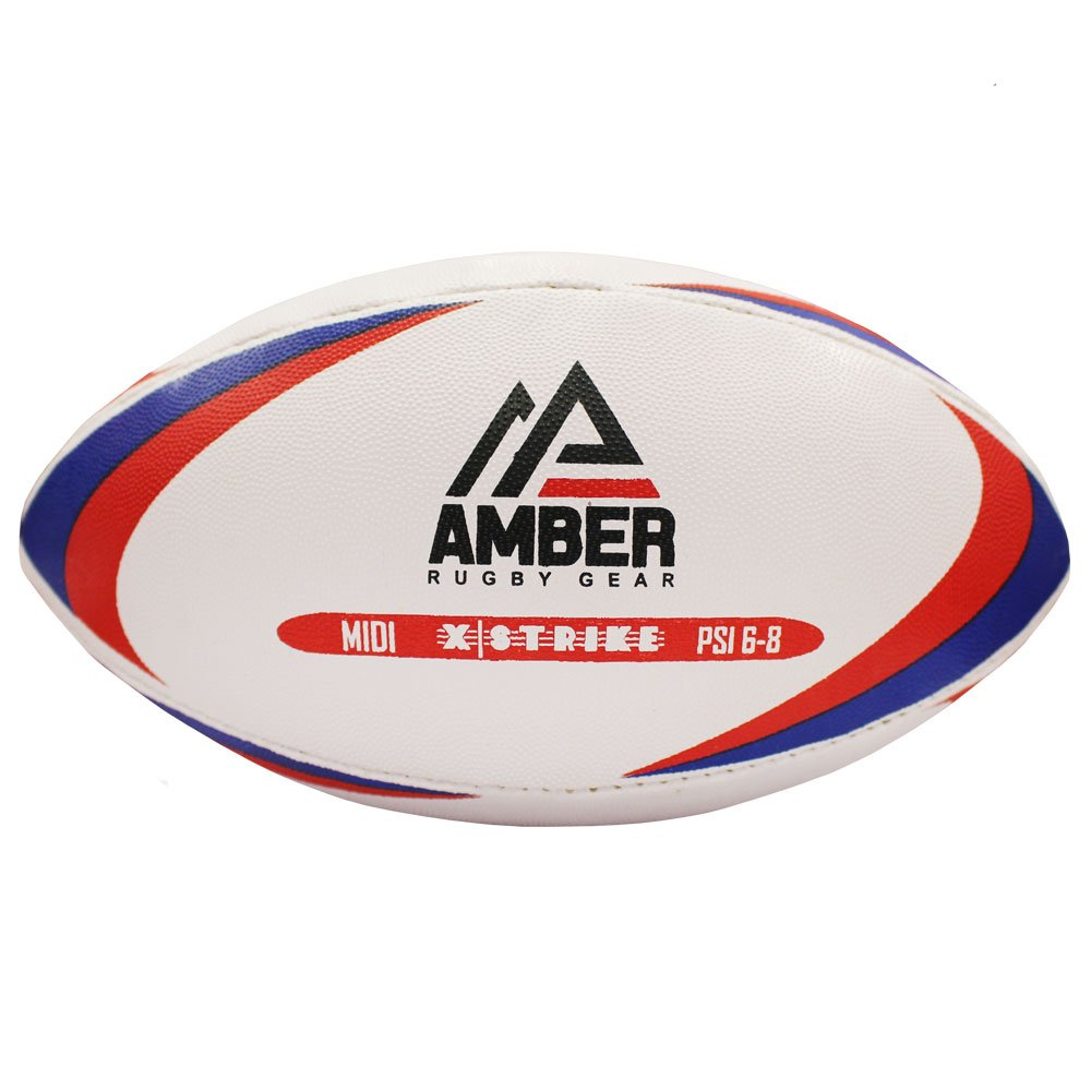 Size 2 White Amber Sports Unisexs X-Strike Rugby Ball