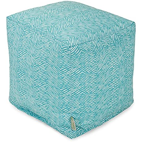 Majestic Home Goods Navajo Cube Small Teal