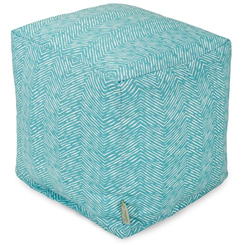 Majestic Home Goods Navajo Cube, Small, Teal ()
