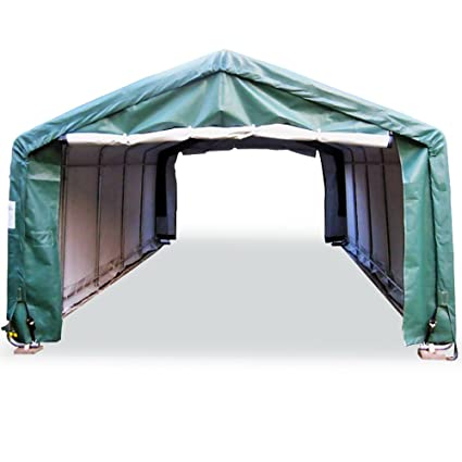 Portable Carports |Instant Garages | Vehicle Shelters (Green, House  12Wx20Lx8H)
