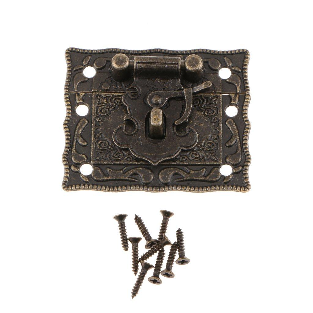 Baoblaze Antike Schnalle Schatullenverschluß Schatullenschloß Truhenverschluss Kastenverschluss
