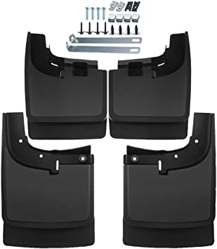 4x Mud Flaps Splash Guards for 2017-2018 Ford F-250 F-350 F-450 F-550 With Lips