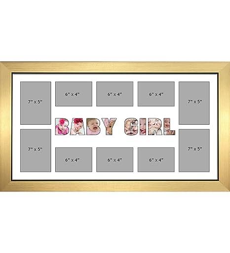 BABY GIRL Photo Frames Personalised Name Frames - Large Multi BABY ...