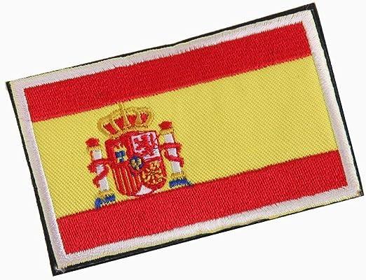 Ouken 1pc España Bandera Tela Insignia Parche Embroiderd No Coser ...