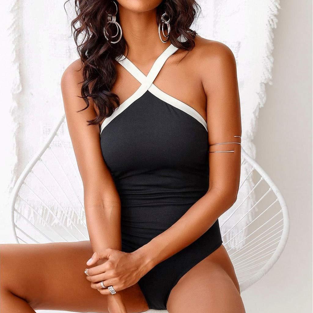 Damen Bikini Oberteil,Bikini BH,Bademode,ALISIAM Frauen Einteiler Push Up Gepolsterter Bikini Badeanzug Bademode Badeanzug Monokini