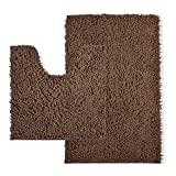 CHESEY Microfiber Bathroom Rugs Mat Set 2 Piece with Contour Toilet Mat Non Slip