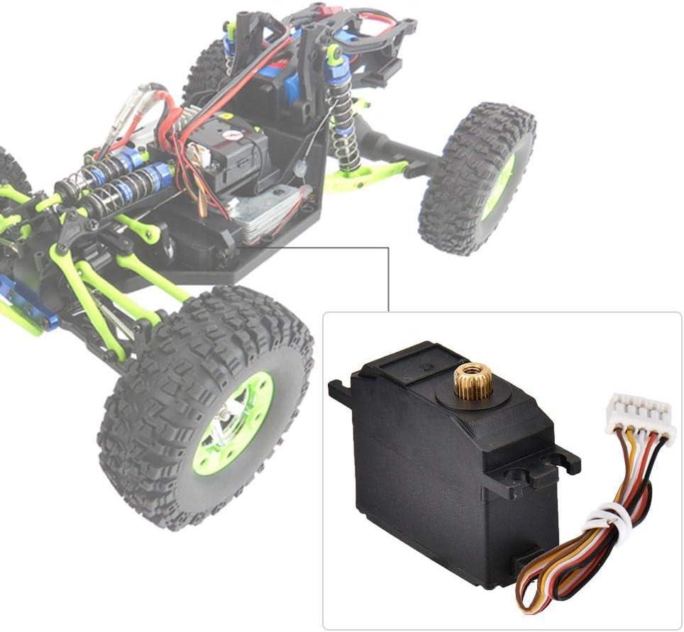 Servo RC Metal Accesorio de Motor de Dirección de Control Remoto para Wltoys 12428 12423