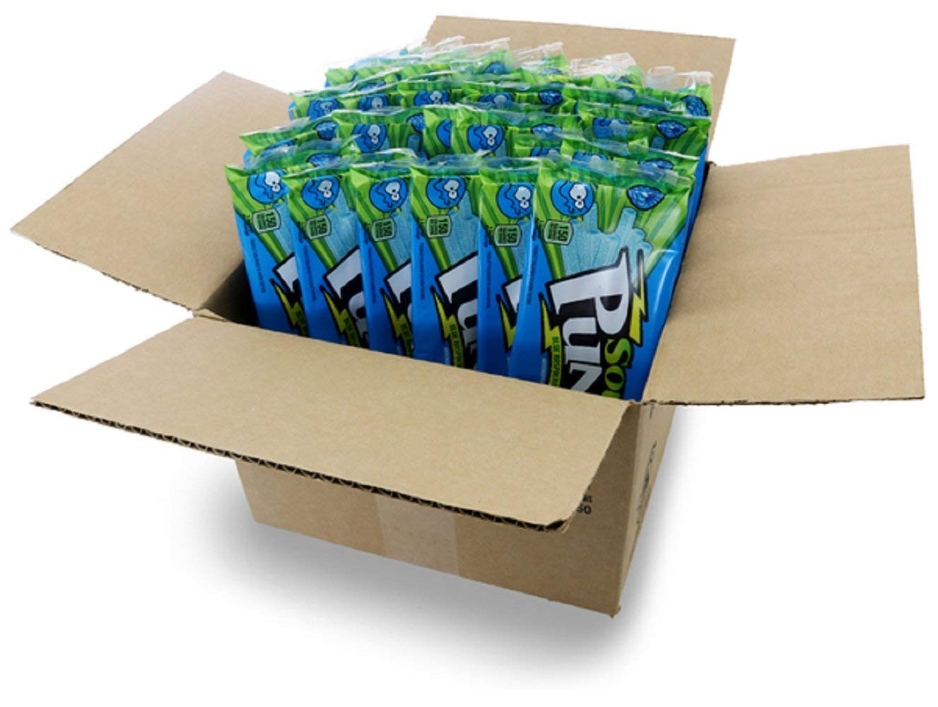 Sour Punch Straws, Blue Raspberry Fruity Flavor, Soft & Chewy Candy, 4.5oz Tray (24 Pack) by Sour Punch (Image #3)
