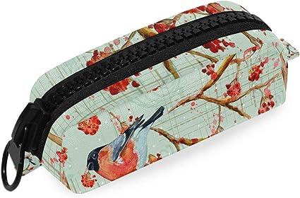 Bolso Bolígrafo Estuche grande Cremallera Bolsa Primavera Flor Árbol Bloom Pájaro Oficina Caballo Escuela: Amazon.es: Oficina y papelería